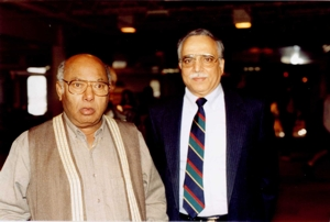 Vijay kaporr with Ali Akabar Khan